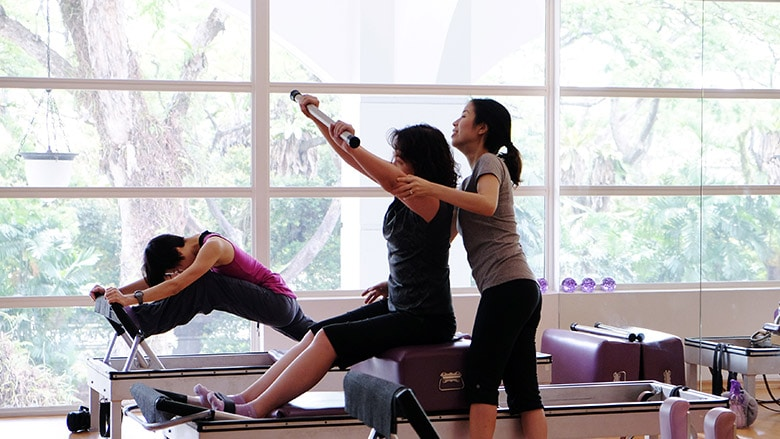 pilates studio in singapore - christina