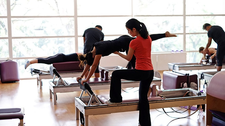 pilates studio in singapore - instructor christina 1